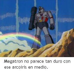 Transformers: S.O.S. Dinobots - Megatron tras el arcoiris