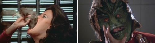 V, la miniserie - Diana comiendo y lagarto