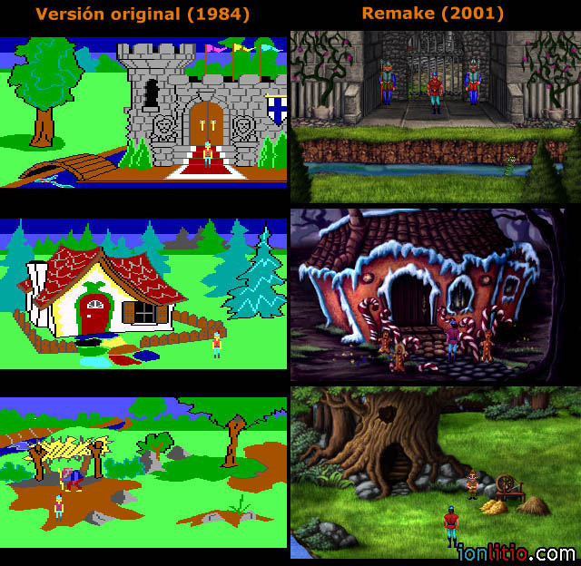 King's Quest I - Comparativa