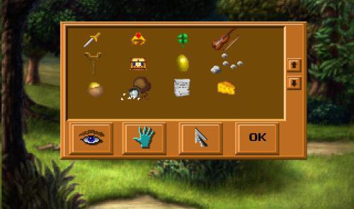 King's Quest I - Inventario