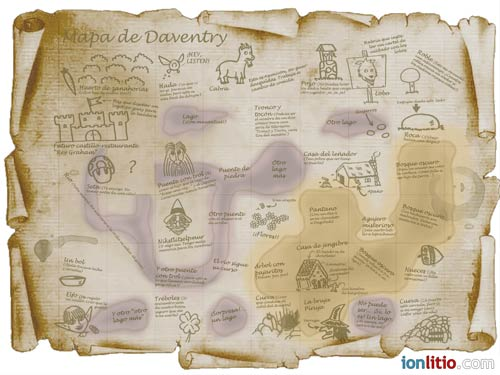 King's Quest I - Mapa de Daventry