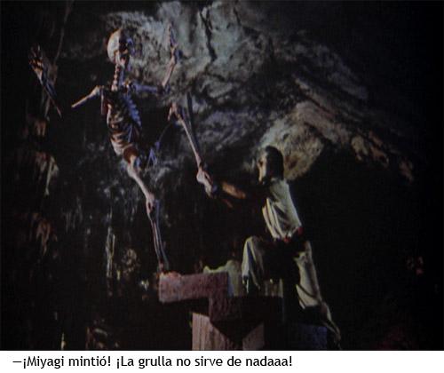 Simbad y la princesa - Esqueleto derrotado