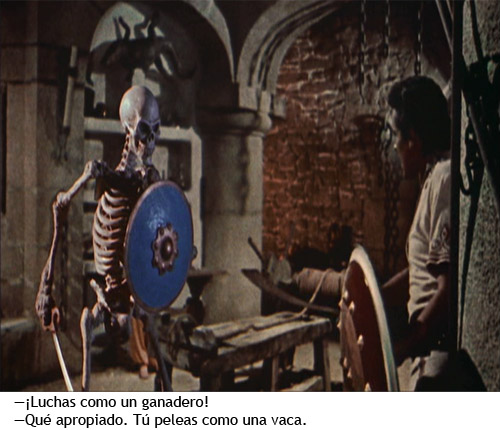Simbad y la princesa - Simbad vs. Esqueleto viviente