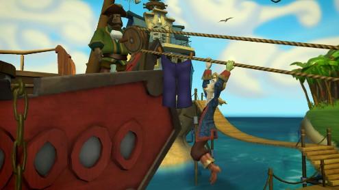 Tales of Monkey Island - Colgado del tendedero