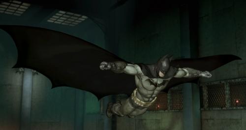 Batman: Arkham Asylum - Batman planeando