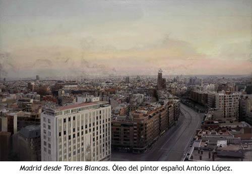 Torres Blancas - Cuadro de Antonio López