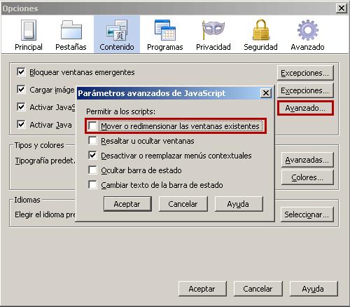 Firefox - Evitar que se redimensionen las ventanas