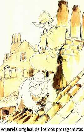 Sherlock Holmes, la serie - Acuarela original de los protagonistas