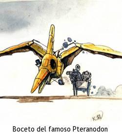 Sherlock Holmes, la serie - Boceto del Pteranodon