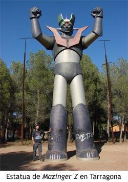 Mazinger Z - Estatua gigante en Tarragona