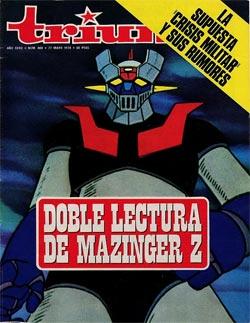 Mazinger Z - Portada de la revista Triunfo