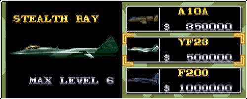 U.N. Squadron - Stealth Ray