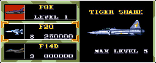 U.N. Squadron - Tiger Shark