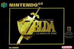 Zelda Ocarina of Time - Portada del juego