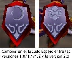 Zelda Ocarina of Time - Cambios en el Escudo Espejo