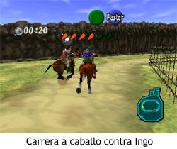 Zelda Ocarina of Time - Carrera a caballo contra Ingo