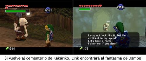 Zelda Ocarina of Time - El fantasma de Dampe