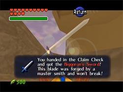 Zelda Ocarina of Time - La espada Biggoron