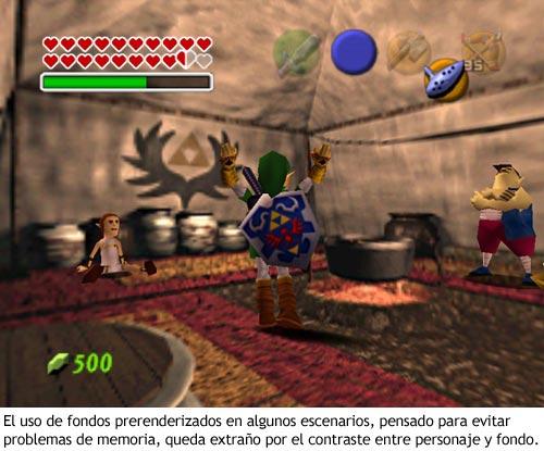 Zelda Ocarina of Time - Fondos prerenderizados