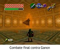Zelda Ocarina of Time - Combate final contra Ganon