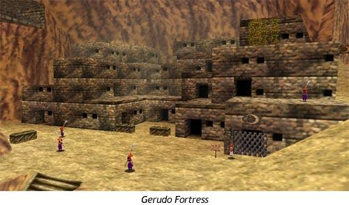Zelda Ocarina of Time - La fortaleza de las Gerudo