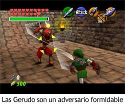 Zelda Ocarina of Time - Enfrentamiento con las Gerudo