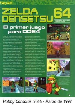 Zelda Ocarina of Time - Hobby Consolas número 66