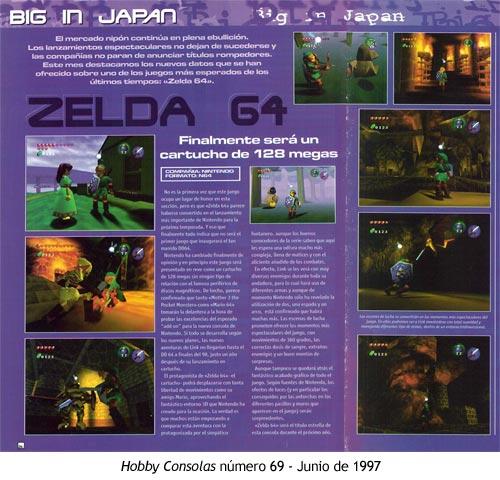 Zelda Ocarina of Time - Hobby Consolas número 69