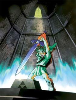 Zelda Ocarina of Time - Link extrae la Espada Maestra