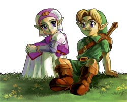 Zelda Ocarina of Time - Link y Zelda