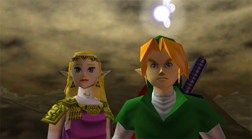Zelda Ocarina of Time - Link y Zelda como adultos
