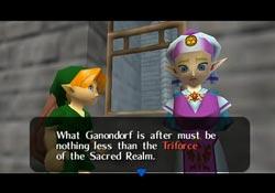 Zelda Ocarina of Time - Primer diálogo entre Link y la princesa