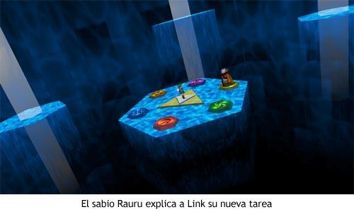 Zelda Ocarina of Time - Link y Rauru