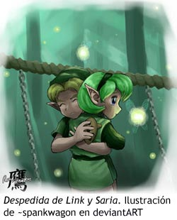 Zelda Ocarina of Time - Abrazo de Link y Saria