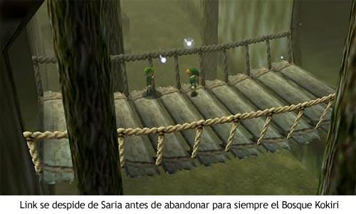Zelda Ocarina of Time - Despedida entre Link y Saria