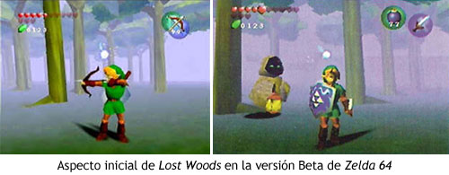Zelda Ocarina of Time - Aspecto inicial de Lost Woods
