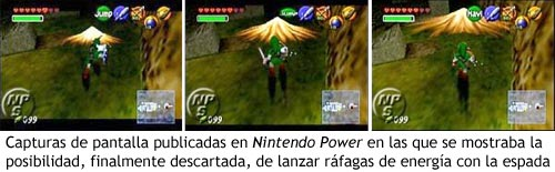 Zelda Ocarina of Time - Lanzando ráfagas con la espada