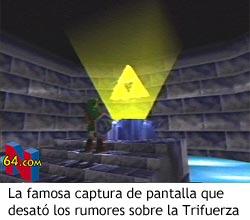 Zelda Ocarina of Time - Trifuerza flotando sobre un altar