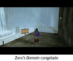 Zelda Ocarina of Time - Zora's Domain congelado