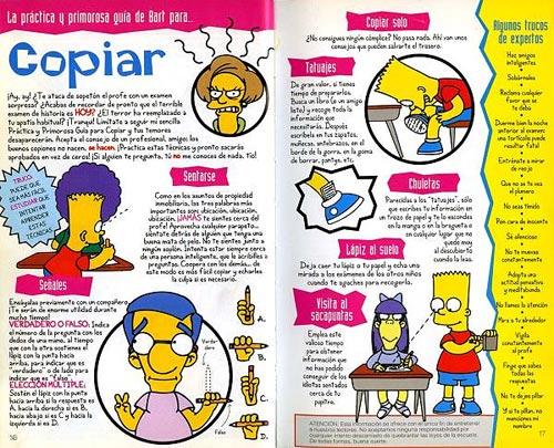 Guía para la Vida de Bart Simpson - Copiar en los exámenes