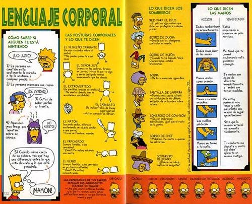 Guía para la Vida de Bart Simpson - Lenguaje corporal