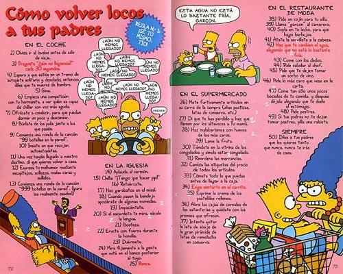 Guía para la Vida de Bart Simpson - Volver locos a tus padres