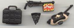 TMNT - Mis muñecos favoritos - Donatello de incógnito - accesorios