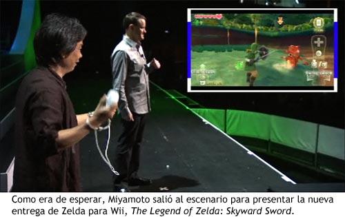 Nintendo E3 2010 - Miyamoto jugando a Zelda Skyward Sword