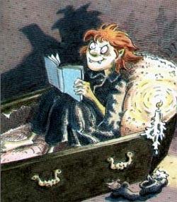 El pequeño vampiro - Rüdiger en su ataúd