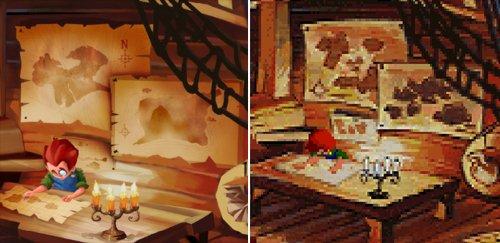 Monkey Island 2 Special Edition - Mapas de Wally