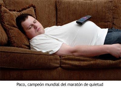 Paco, campeón mundial de quietud