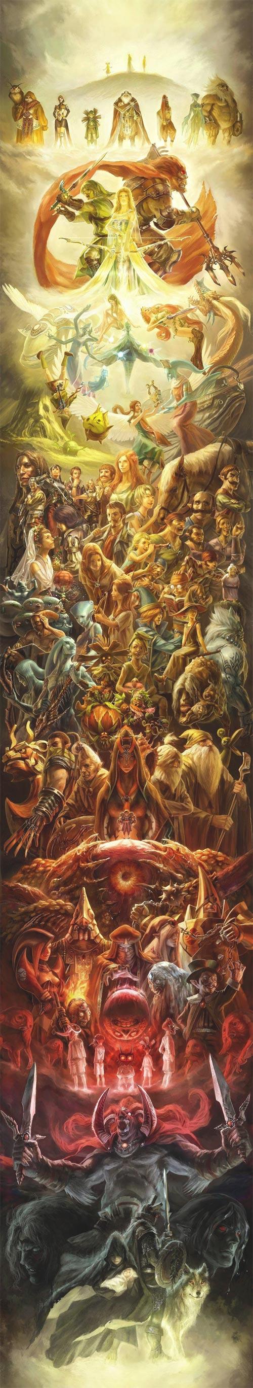 Póster Zelda 25 Aniversario