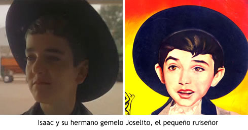 Isaac y su hermano gemelo Joselito, el pequeño ruiseñor
