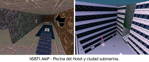 Duke Nukem 3D - NSB71.MAP - Piscina y ciudad submarina